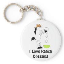 Cartoon Horse With Ranch Dressing Keychain