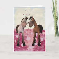 Cartoon Horses Valentine's Card