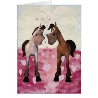 Cartoon Horses Valentineu0026#39 ...