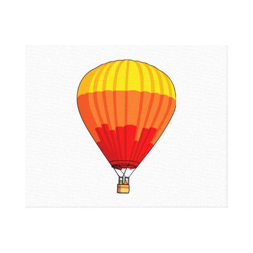 Cartoon Hot Air Ballon Stretched Canvas Prints