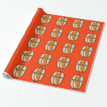 cartoon hot dog sausage gift wrapping paper