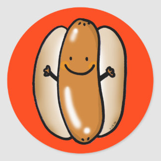 cartoon hot dog sausage stickers