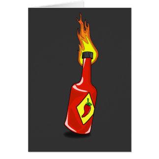 Cartoon Hot Sauce Card