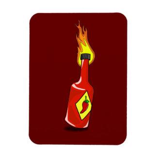 Cartoon Hot Sauce Rectangular Photo Magnet