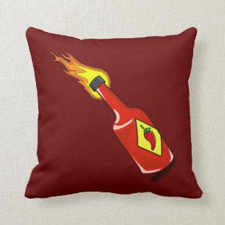 Cartoon Hot Sauce Throw Pillow