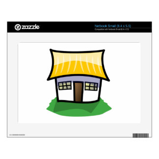 Cartoon House Skin For Small Netbook