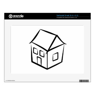 Cartoon House Decal For Small Netbook