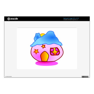 Cartoon House Decals For Netbooks