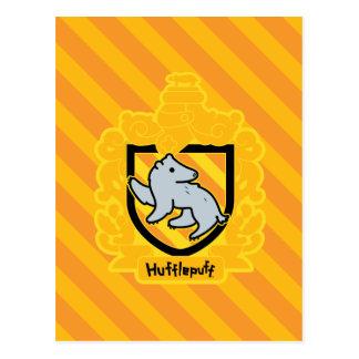 Cartoon Hufflepuff Crest Postcard