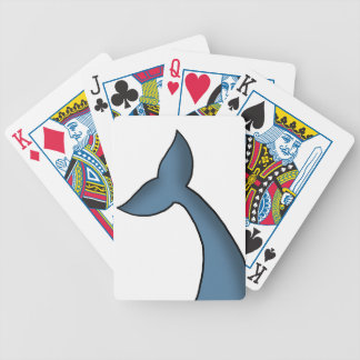 Cartoon Humpback Whale Tail Bicycle Playing Cards