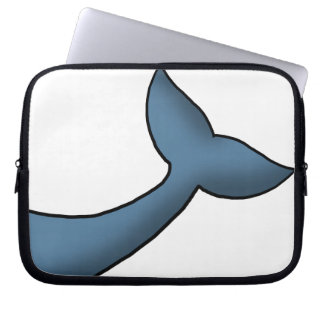 Cartoon Humpback Whale Tail Laptop Sleeves
