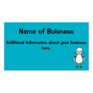 Cartoon Hungry Seagull Double-Sided Standard Business Cards (Pack Of 100)