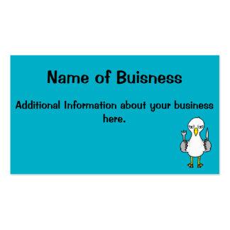 Cartoon Hungry Seagull Business Card