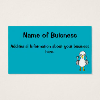Cartoon Hungry Seagull Business Card
