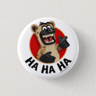 Cartoon Hyena Animal Button