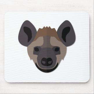 Cartoon Hyena Head Mouse Pad