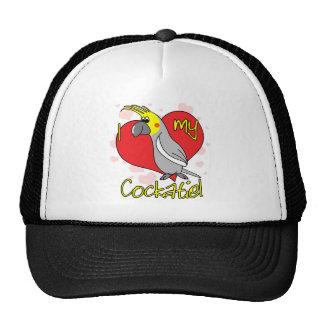 Cartoon I Love my Cockatiel Trucker Hat