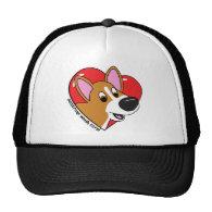 Cartoon I Love my Corgi Hat