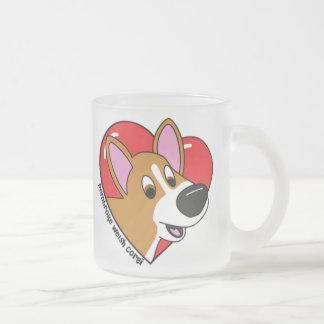 Cartoon I Love my Corgi Mug