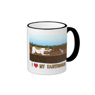 Cartoon I Love my Earthdog Mug