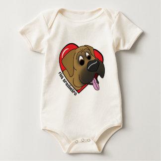 Cartoon I Love my Fila Brasileiro Infant Creeper