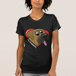 Cartoon I Love my Fila Brasileiro Ladies T-Shirt