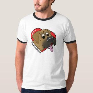 Cartoon I Love my Fila Brasileiro T-Shirt