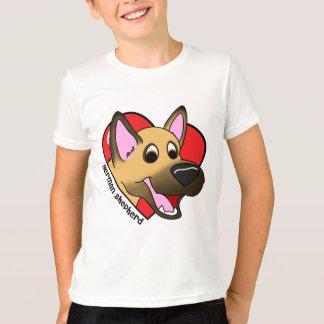 Cartoon I Love my German Shepherd Child's T-Shirt