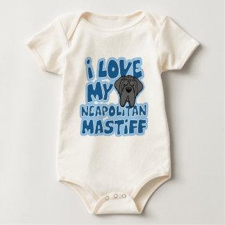 Cartoon I Love My Neapolitan Mastiff Infant Creepe Bodysuit