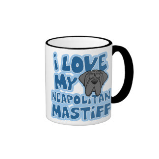Cartoon I Love My Neapolitan Mastiff Mug