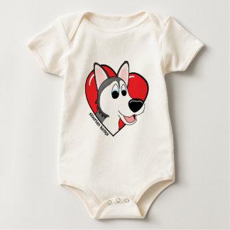 Cartoon I Love my Siberian Husky Infant Creeper
