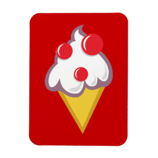 Cartoon-Ice-Cream-With-Cherry CARTOON ICECREAM CON Magnet