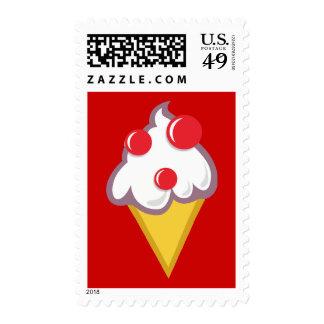 Cartoon-Ice-Cream-With-Cherry CARTOON ICECREAM CON Postage