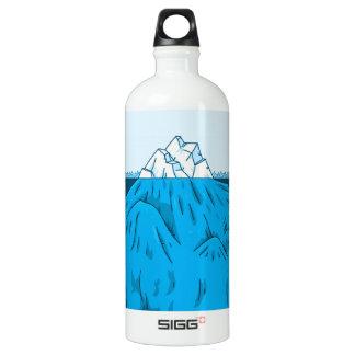 Cartoon Iceberg Under Water Water Bottle