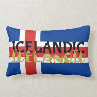 Cartoon  Icelandic Horse Throw Pillow