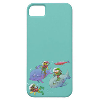 Cartoon illustration Gnomes and there fish friends iPhone SE/5/5s Case