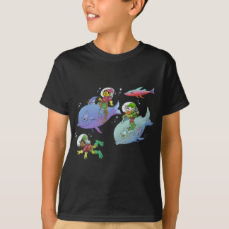 Cartoon illustration Gnomes and there fish friends T-Shirt