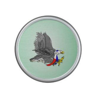 Cartoon Illustration of a Bald Eagle Bluetooth Speaker
