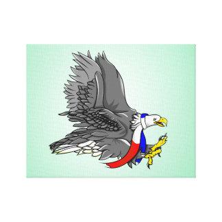 Cartoon Illustration of a Bald Eagle Canvas Print