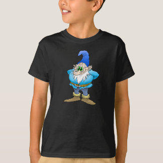 Cartoon illustration of a Bashful gnome, tees. T-Shirt