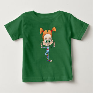 Cartoon illustration of a girl doing yoga. baby T-Shirt