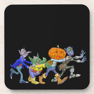 Cartoon illustration of a Halloween congo. Coaster