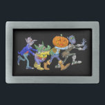 "Cartoon illustration of a Halloween congo. Rectangular Belt Buckle<br><div class=""desc"">This is a design for halloween.</div>"