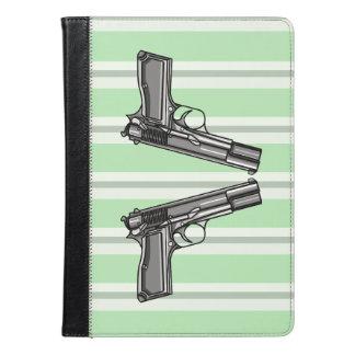 Cartoon Illustration Of A Modern Handgun iPad Air Case