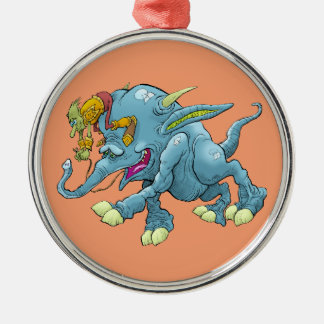 Cartoon illustration, of a running creature. metal ornament
