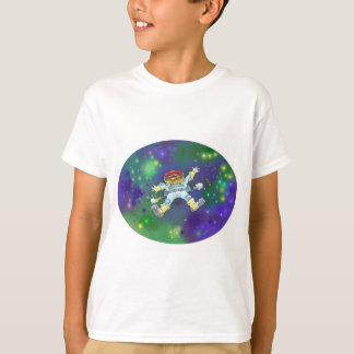 Cartoon illustration, of a space gnome, boys tees. T-Shirt