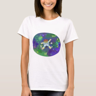 Cartoon illustration, of a space gnome, t-shirt. T-Shirt