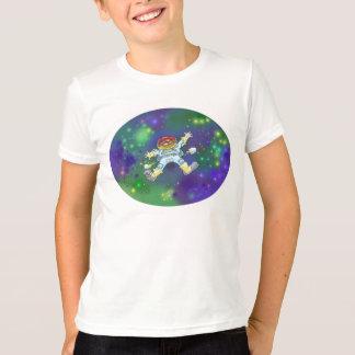Cartoon illustration of a spaceman on a t-shirt. T-Shirt