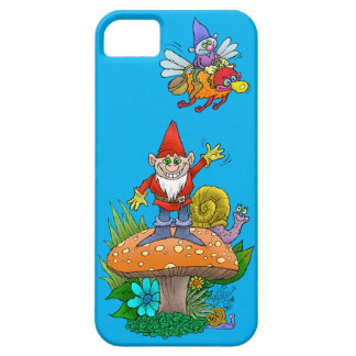 Cartoon illustration of a standing waving gnome. iPhone SE/5/5s case