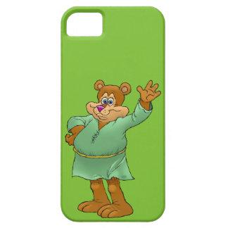 Cartoon illustration of a waving bear. iPhone SE/5/5s case